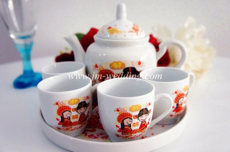 WTS1012 Cartoon Wedding Tea Set