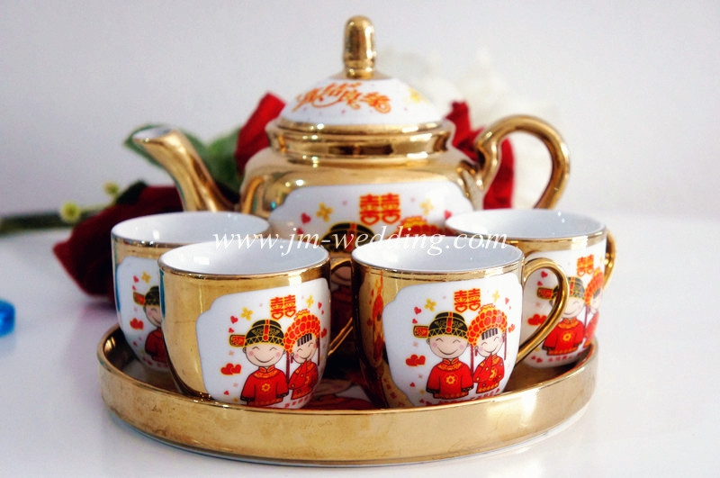 WTS1010 Cartoon Wedding Tea Set As Low RM50
