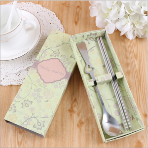 WFS2028 Green Korean & Western Spoon And Chopstick Favor -As Low As RM2.20/Pc