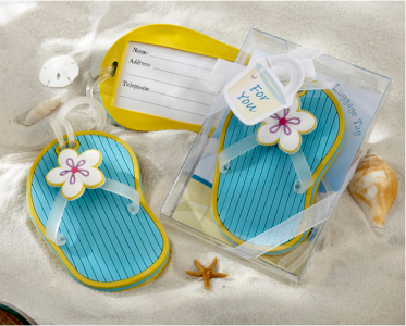 WLT2007 Flip-Flop Luggage Tag in Beach-Themed Gift Box - As Low As RM6.50 /Pc