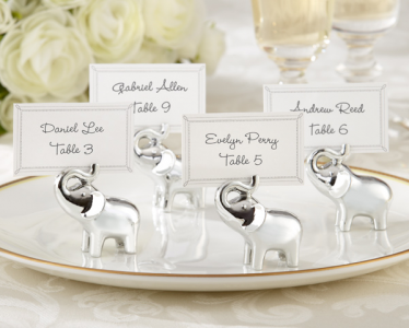 "WPCH2021 ""Lucky in Love"" Silver-Finish Lucky Elephant Place Card -As Low As RM3.80/ Pc"