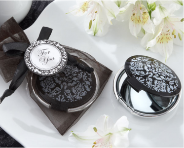 "WMR2002 ""Reflections"" Elegant Black-and-White Mirror Compact  -As low As RM4.70 / pc"