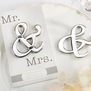 "WBO2042 ""Mr. & Mrs."" Ampersand Bottle Opener - As Low As RM3.50/Pc"