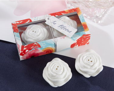 "WMSB2018 ""In Bloom"" Ceramic Flower Salt and Pepper Shakers - As Low As RM4.20 / Box"