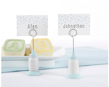 WPCH2030 Classic Blue Baby Bottle Place Card Holder - As Low As RM2.89/Pc
