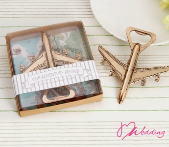 "WBO2038 Let the Adventure Begin"" Antique Airplane Bottle Opener - As Low As RM 4.70/Pc"