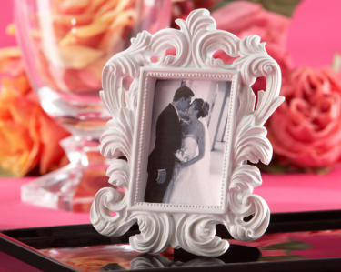 "WPF2007 ""White Baroque"" Elegant Place Card Holder/Photo Frame - As Low As RM4.70/Pc"