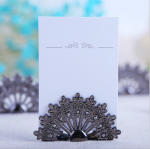 WPCH2025 Antique Fan Place Card Holders  -As Low As RM4.20/ Pc