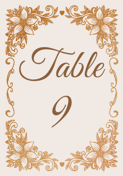 STC3009 Personalize Table Cards