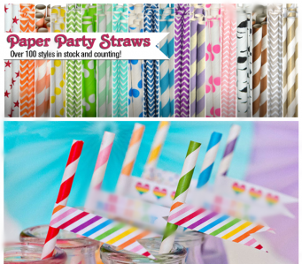 Promo Buy1 Free1 Colorful Paper Straw / Drinkware (25pcs per pack) PST5001 -as low as RM5.90/pack