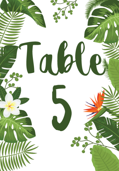 STC3005 Personalize Table Cards