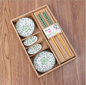 BSD2001-3 Shaped Ceramic Dish Gift Set (Green) - As Low As RM 13.80 / Set