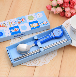 BFS2003 Blue Cartoon Spoon & Chopstick Baby Favor - As Low As RM3.10 / Pc