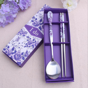 WFS2021 Purple Korean & Chinese Spoon And Chopstick Favor - As Low As RM2.50 / Pc
