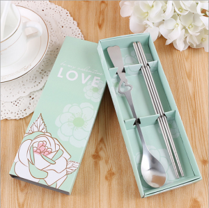 WFS2029 Tiffany Love Korean & Western Spoon And Chopstick - As Low As RM2.20/Pc