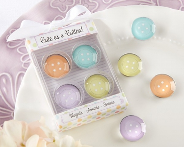 WMA2003 Cute As a Button Magnets Baby Shower Favour - As low as RM6.20/ Box