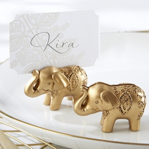 WPCH2027 Lucky Golden Elephant Place Card Holders - As Low As RM 3.38/Pc