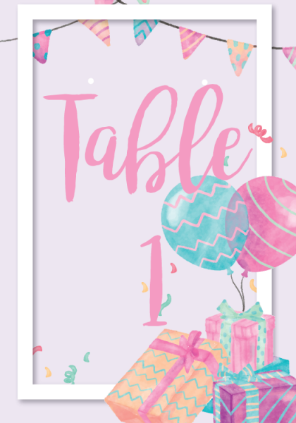 STC3001 Personalize Table Cards