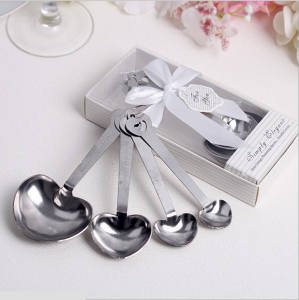 WFS2011 Love Beyond Measure Heart Shaped Measuring Spoons (white) - As low as RM4.10 /Pc