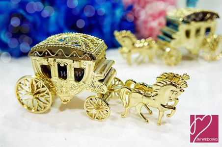 WPLB2001 Golden Horse Carriage Car PVC Favor Box - As low as RM3.60/Pc