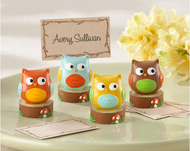 "WPCH2019 ""Whooo's the Cutest"" Baby Owl Place Card/Photo Holder - As Low As RM5.42 / Pc"