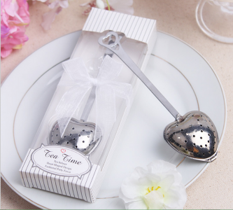 WKD2002 Pure White Heart Tea Infuser - As Low As RM3.30 /Pc