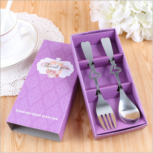 "WFS2042 ""Thanks You"" Purple Fork & Spoon Teatime Set - As Low As RM 2.20 / Set"