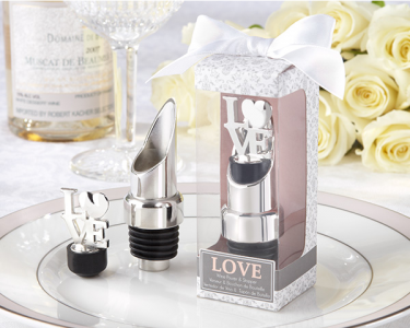 "WWS2013 ""LOVE"" Chrome Pourer/Bottle Stopper - As low as RM7.89/ Pc"