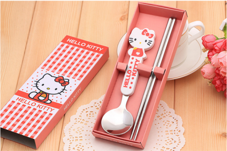 BFS2001 Cartoon Spoon & Chopstick Baby Favor - As Low As RM3.10 / Pc