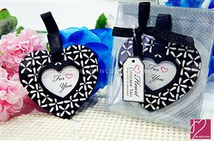 WLT2001 Elegant Black & White Heart Luggage Tag - As Low As RM5.90 /Pc