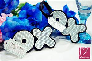 WLT2002 XO Blue & White Luggage Tag - As Low As RM6.09 /Pc