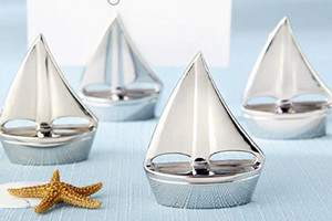 WPCH2010 Silver Sailboat Place Card Holders - As Low As RM2.71/Pc