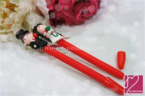 WPE2002 Bride & Groom Pen Favors  - As Low As RM1.90 / Pc