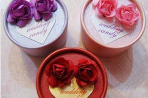 PHBR3001 Colorful Round Candy Box with roses - As Low As RM2.20 /Pc