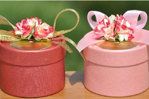 PHBR3009-1 Pink Flower Round Candy Box - As Low As RM2.20 /Pc