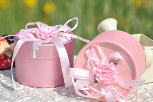 PHBR3009-4 PinkFlower Round Candy Box - As Low As RM2.20 /Pc