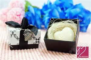 WSS2002 Damask Heart Shaped Soap Favor - As Low As RM2.00 / Pc