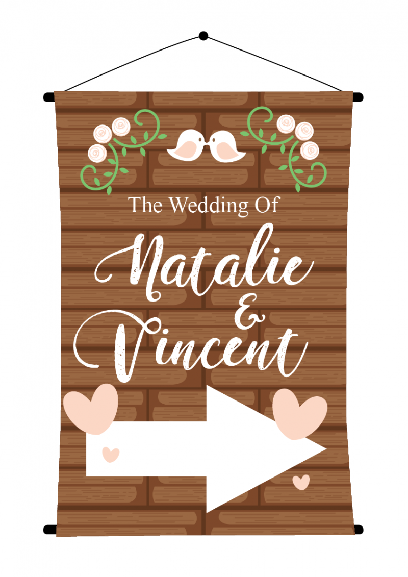 Christmas Arrow Signs.Sbg3015 Personalize Bride And Groom Signs Sign Arrow