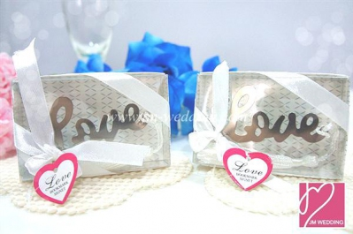 WBM2007  Love Silver Bookmark Favors - As Low As RM 1.60 / Pc