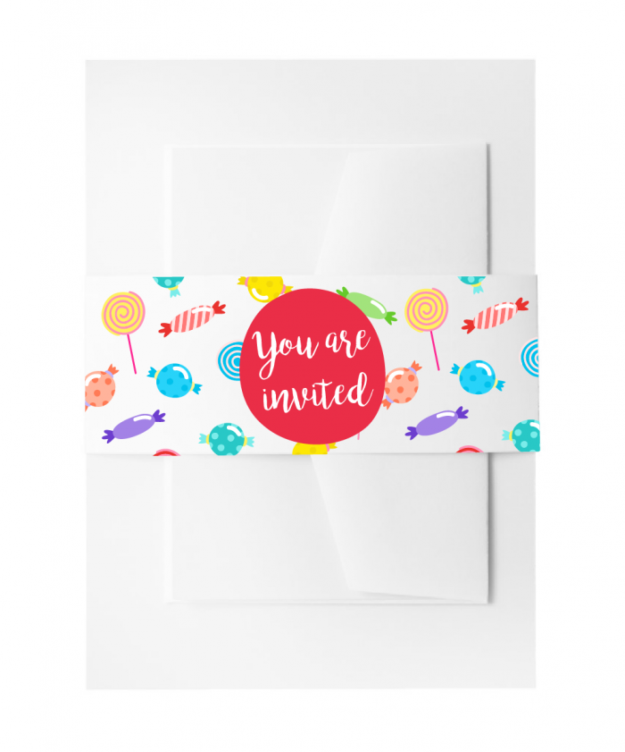 SBB3003 Personalize Invitation Belly Bands