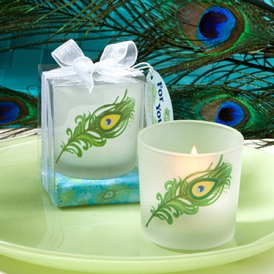 WCHH2006 Peacock Feather Design Candle Holder  - As Low As RM5.20 / Pc