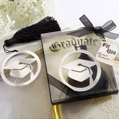 WBM2031 Gleaming Silver Mortarboard Graduation Bookmarks - As Low As RM1.80 / Pc