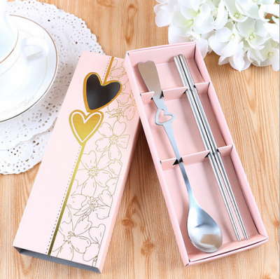 WFS2001 Pink Spoon And Chopstick Favor - As Low As RM2.20 / Pc