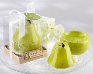 "WMSB2020 ""The Perfect Pair"" Ceramic Salt & Pepper Shakers - As Low As RM4.60 /Pc"
