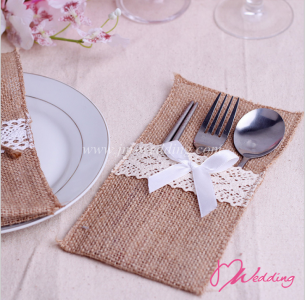 WBU2003 Burlap & Lace Pocket Favor ( 5 Options)- As Low As RM 2.70/Pc