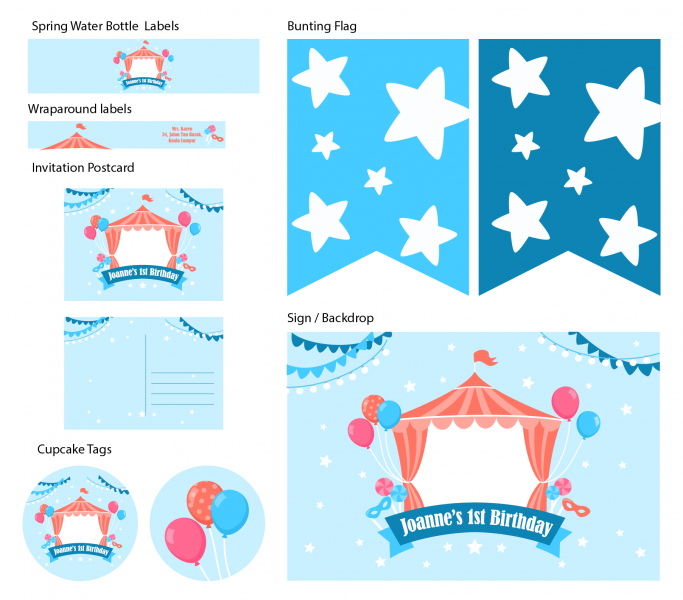 SPP3002 Personalize Party Printable