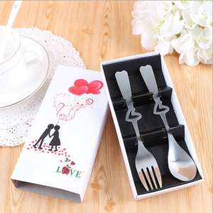 "WFS2003 ""Love"" Couple Silver Fork & Spoon Set (Teatime Set) - As Low As RM2.20 /Pc"