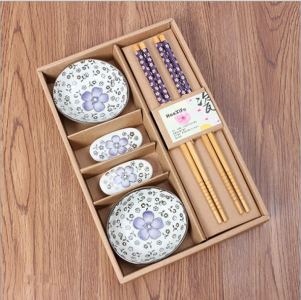BSD2001-2 Shaped Ceramic Dish Gift Set (Purple) - As Low As RM 13.80 / Set