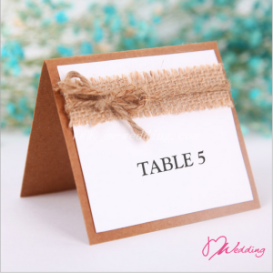 WBU2004 Burlap Table Card (Natural)  - As Low As RM2.40 / Pc