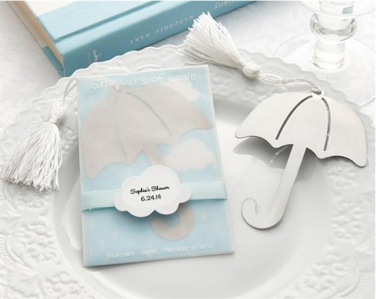 WBM2022 Umbrella Bookmark with white-silk tassel